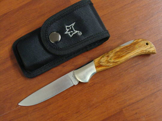 Fox Knives Forest Pakkawood Folding Knife FX500