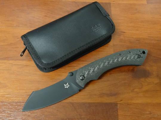 Fox Knives Kmaxrom Pelican Folding Knife, Carbon Fiber Handles - FX534CF