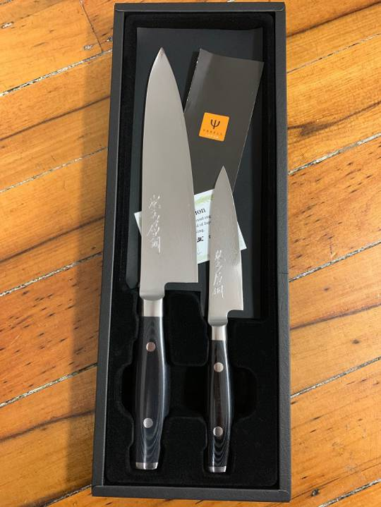 RAN PLUS Japanese Damascus 2Pce Knife Set