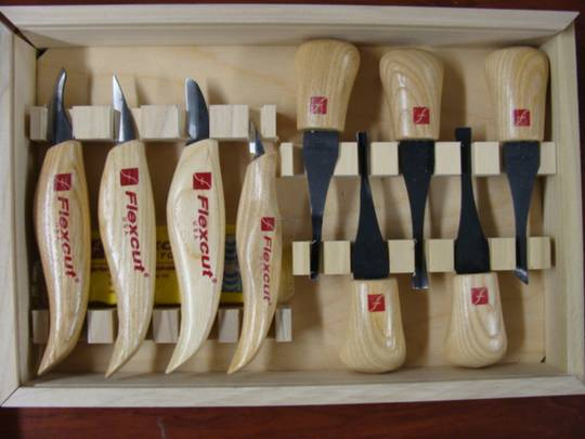 Flexcut Deluxe Palm and Knife Set - KN700