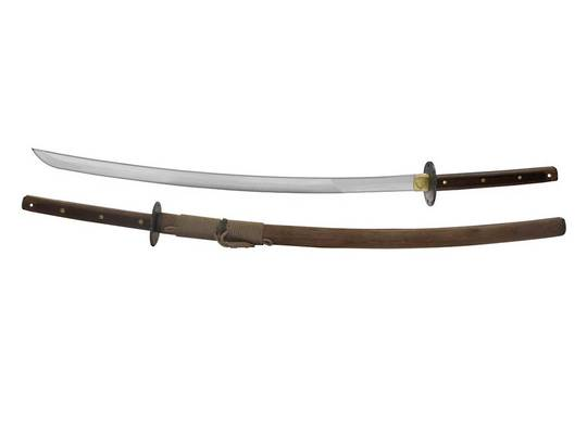 "Condor Kondoru Katana Sword 28.75"" Carbon Steel Blade, Walnut Handles and Sheath"