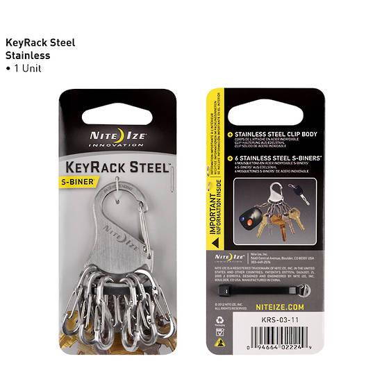 Nite Ize S-Biner Keyrack Stainless Steel