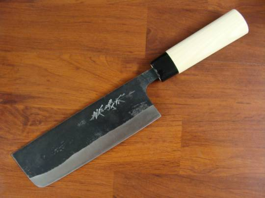 Kaneyoshi Japanese KUROUCHI Nakiri Kitchen Knife 165mm