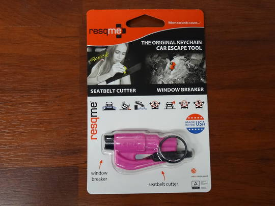 ResQMe Keychain Rescue Emergency Tool-  Pink