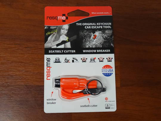 ResQMe Keychain Rescue Emergency Tool-  Orange