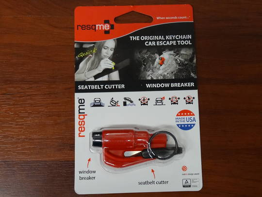 ResQMe Keychain Rescue Emergency Tool-  Red