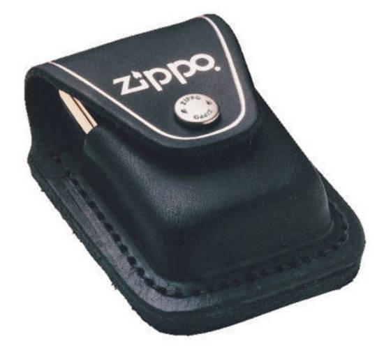 Zippo Lighter Pouch w/ Loop Black
