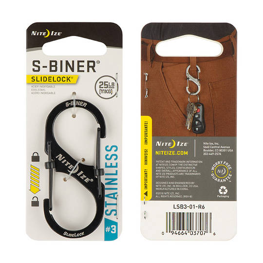 Nite Ize S-Biner Slidelock #3 Black