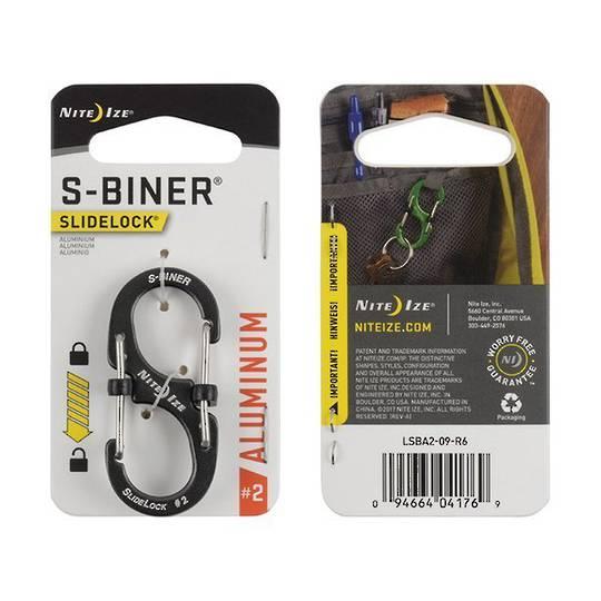 Nite Ize S-Biner Slidelock #2 Charcoal