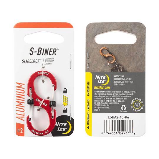 Nite Ize S-Biner Slidelock #2 Red