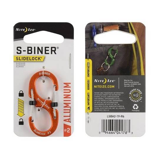 Nite Ize S-Biner Slidelock #2 Orange