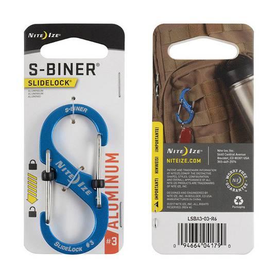 Nite Ize S-Biner Slidelock #3 Blue
