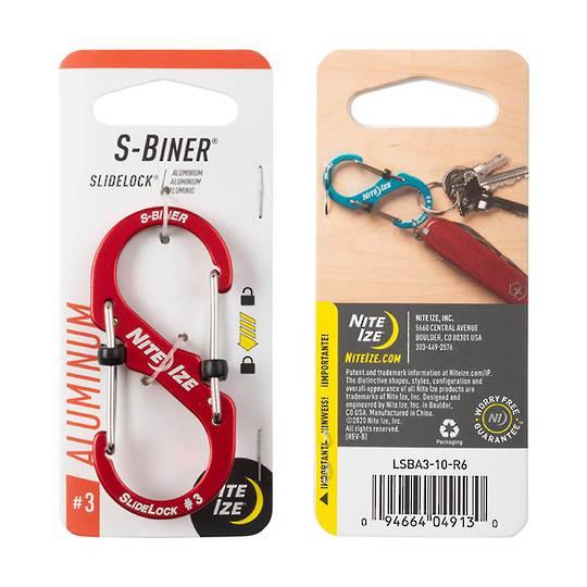 Nite Ize S-Biner Slidelock #3 Red