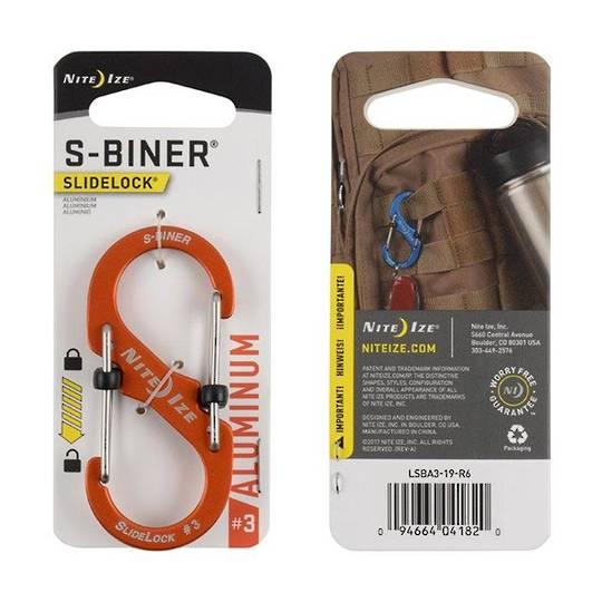 Nite Ize S-Biner Slidelock #3 Orange