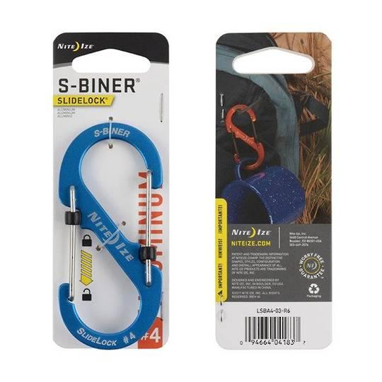 Nite Ize S-Biner Slidelock #4 Blue