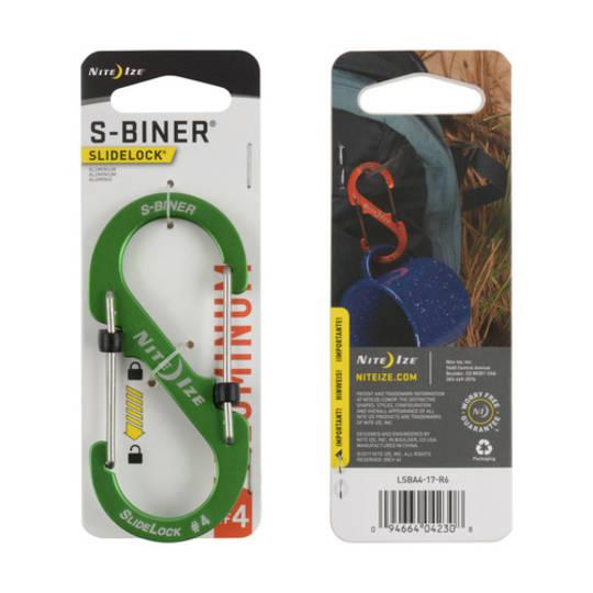 Nite Ize S-Biner Slidelock #4 Lime