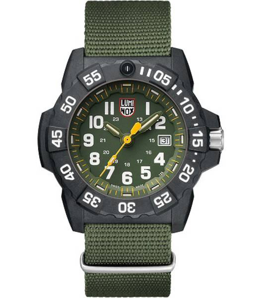 LUMINOXY NAVY SEAL GREEN DIAL WEBBING STRAP WATCH - 3517
