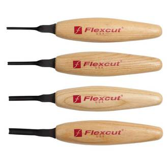 Flexcut MT400 Shallow U-Gouge Micro Tool Set -  No packaging