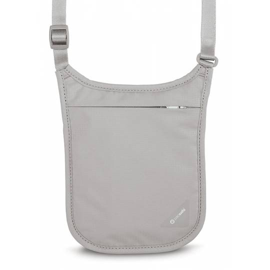 Pacsafe Coversafe V75 - RFID blocking neck pouch Grey