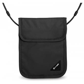 Pacsafe Coversafe X75 - anti-theft RFID blocking neck pouch Black