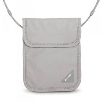 Pacsafe Coversafe X75 - anti-theft RFID blocking neck pouch Grey