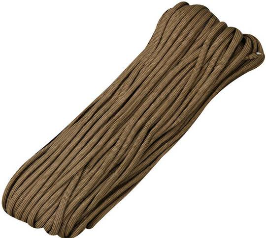 100ft 550 Parachute Cord/Paracord - Brown