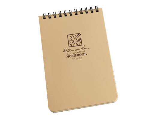"Rite in the Rain Universal Polydura Tactical Pocket Notebook, 4"" x 6"", Tan"