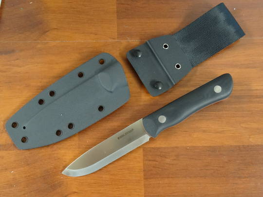 Real Steel Knives Bushcraft III Fixed Blade Knife,  D2 Scandi Grind