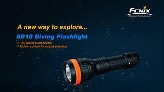 Fenix Diving Flashlight 100M Waterproof SD10
