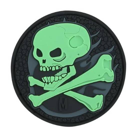 MAXPEDITION SKULL MORALE PATCH GLOW