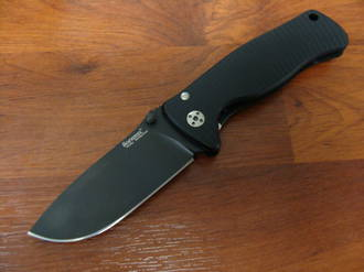 LionSteel SR-2A BB Folding Knife  D2 Steel Blade, Black Aluminum Handle