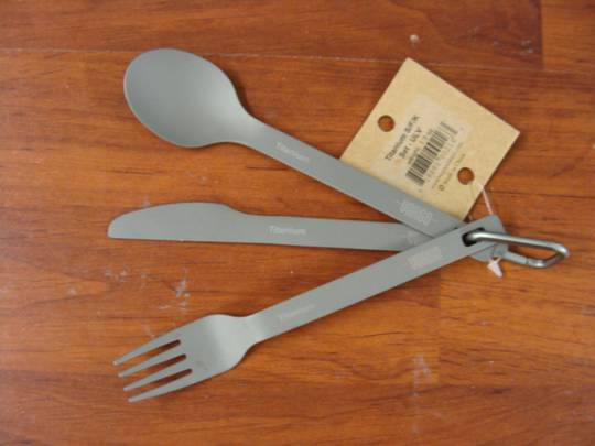 Vargo Titanium Utensil Set, Ultra Light Version