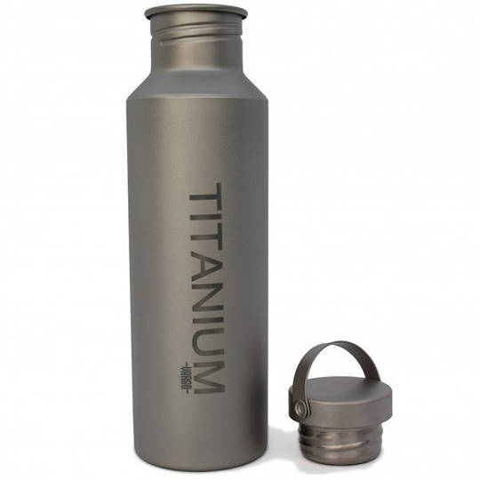 Vargo Titanium Water Bottle w/TI Lid, 650 ml