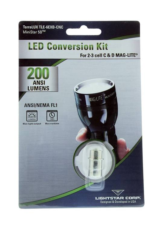 TerraLUX Led Lightbulb Upgrade 2-3 Cell 200 Lumens