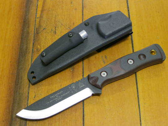 Tops BOB Hunter - Brothers of Bushcraft Knife - Red and Black G10 handles
