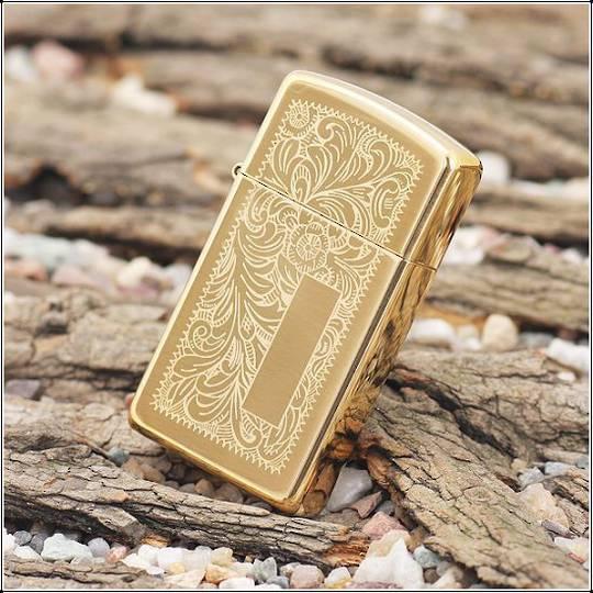 Zippo Venetian Slim Brass Lighter