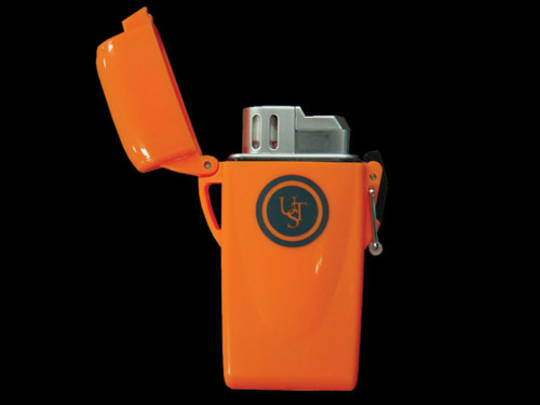 Ultimate Survival Floating windproof Lighter -  piezo-electric ignition Orange