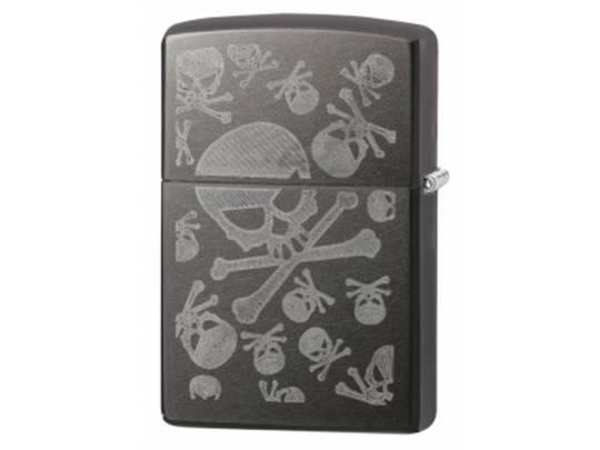 Zippo Iced Skulls Grey Dusk Lighter