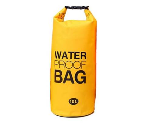 Waterproof tube style dry bag 10L