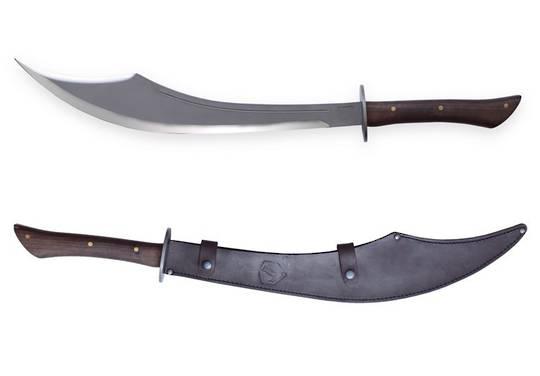 Condor Sinbad Scimitar Sword Carbon Steel Blade, Hardwood Handles, Leather Sheath
