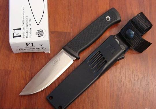Fallkniven F1 Swedish Military Survival knife - Zytel Sheath