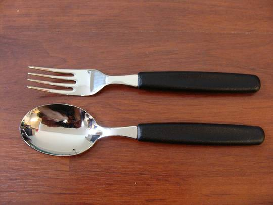 Victorinox Table Spoon and Fork Set Black