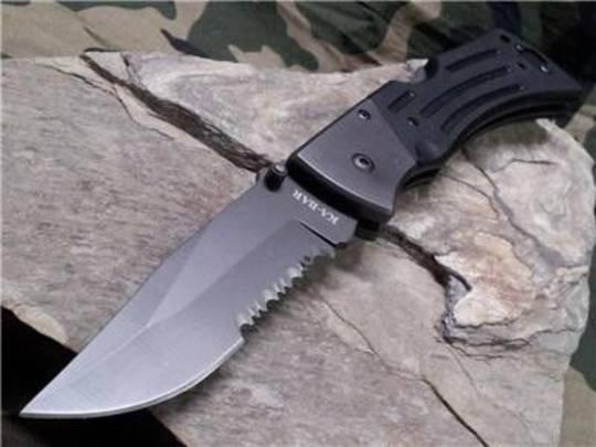 Ka-Bar G10 MULE Serrated Black Knife - 3063