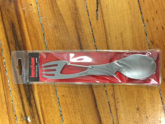 Kershaw Ration XL (Bead Blast) Spoon, Fork, Bottle Opener, Carabiner