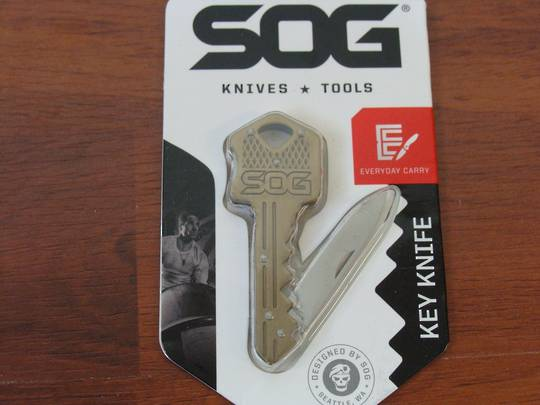 SOG Key Knife Brass