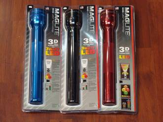 Maglite LED 3 D Cell Torch - 3 Colours