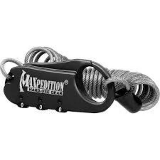Maxpedition Steel Cable Lock - Black