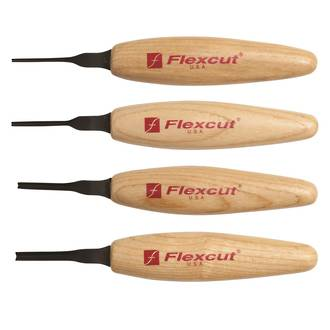 Flexcut 90 Deg Parting Micro Tool Set - MT800 no packaging