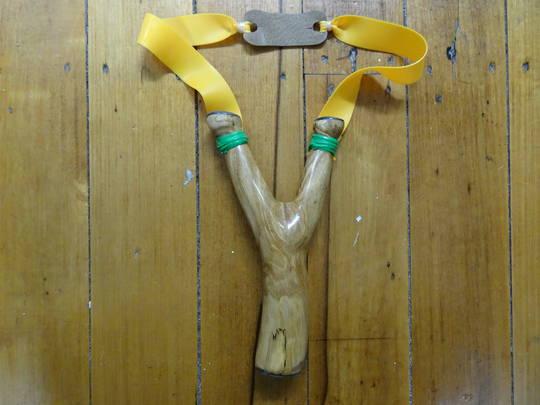Nosferatu Bespoke Slingshots Handmade with Paua Shell Inlay N10
