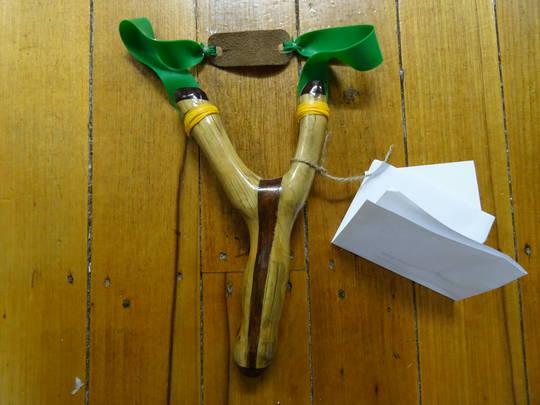 Nosferatu Bespoke Slingshots Handmade with Kwila - N11